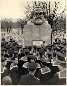 Soviet sailors in London in 1956 visiting the Karl Marx Memorial. PHOTO: KEYSTONE PRESS AGENCY/ZUMA PRESS