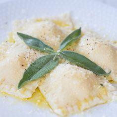 Ricotta Ravioli with Butter & Sage Sauce