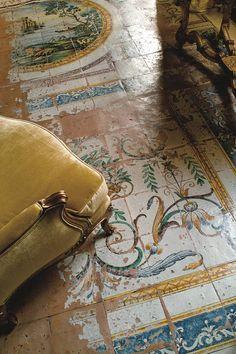 "vaninnavaninni: "" An arty tiled floor in the Four Seasons Hotel Firenze in Florence, Italy. Fotografia Retro, Italian Summer, European Summer, Four Seasons Hotel, Interior And Exterior, Tile Floor, Zip Around Wallet, Around The Worlds, House Design"