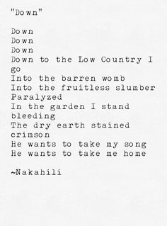 Down #poetry #poem #prose
