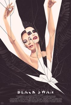 Black Swan Poster by Jack Hughes (Onsale Info) - Dr Wong - Emporium of Tings. - Black Swan Poster by Jack Hughes (Onsale Info) Mondo will sell a brand new Black Sawn poster by Ja - Horror Movie Posters, Iconic Movie Posters, Cinema Posters, Movie Poster Art, New Poster, Iconic Movies, Horror Films, Classic Movies, Poster Wall