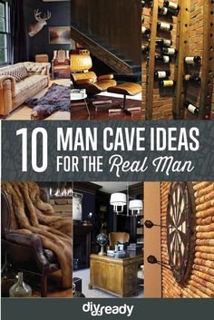 Man Cave Ideas For Real Men by DIY Ready at http://diyready.com/man-cave-ideas-for-real-men/: