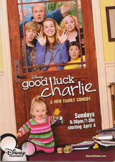 "Good Luck Charlie is a great Disney show about a family that has lots of kids. And the oldest girl, Teddy, makes video diaries of all that she goes through as advice for her younger sister, Charlie, so Charlie can watch them when she gets to that phase of her life. Teddy always signs the video diaries off with saying ""Good Luck Charlie."""