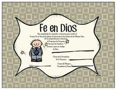 Certificado Fe en Dios para Niños