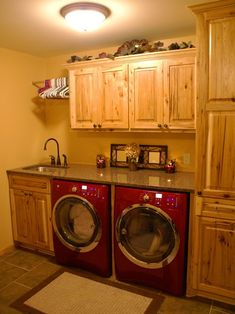 laundry-room-makeover ideas - country They have amazing laundry rooms. Just gorgeous!!!