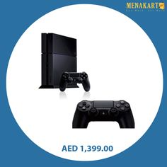 Playstation 4 Console 500GB with Extra Wireless Controller #playstation4 #ps4 #consoles #games #gaming #gamingconsole #online #shopping #menakart