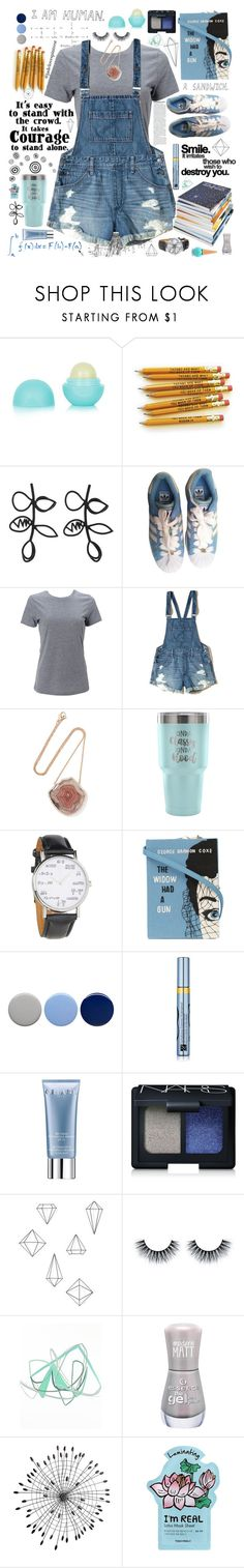 """Blue and Gray"" by jadelovespintrest ❤ liked on Polyvore featuring Eos, Oscar de la Renta, Tim Holtz, philosophy, adidas, Simplex Apparel, Hollister Co., Kimberly McDonald, Frankie & Stein and Olympia Le-Tan"