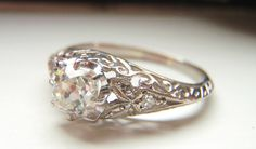SEPTEMBER PAYMENT. RESERVED for Matt. Edwardian Engagement Ring Perfection.. $684.10, via Etsy.