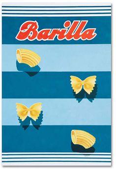Vintage Barilla Pasta Ads by Erberto Carboni Vintage Packaging, Vintage Labels, Packaging Design, Vintage Italian Posters, Pub Vintage, Vintage Food Posters, Retro Poster, Poster Vintage, Retro Print
