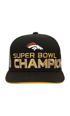 NFL Youth Denver Broncos Black Super Bowl 50 Champions Flatbrim Snapback  Adjustable Hat  SB50   baf52ee0b
