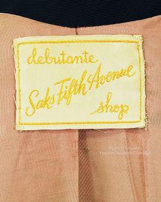 Evening Coat, Label Debutante Saks Fifth Avenue, FRC1989.07.006