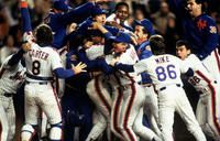 1986 Mets. I still remember ~ I was working on a Care Plan, watching the game and GREAT season.