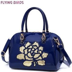 68342f6743e5 FLYING BIRDS women leather handbag designer brands tote new shoulder bag  embroidered messenger bags high quality purse LM4007fb