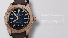 ORIS DIVERS SIXTY-FIVE LIMITED EDITION —  created in honour of the legendary African-American Navy diver Mr Carl Brashear. Mr Brashear's lifelong display of physical and moral bravery in the face of numerous adversities was immortalised by Mr Cuba Gooding Jr in the 2000 movie Men Of Honor, and the watch's bronze case (which will develop a notable patina over time) is a reference to the bronze diving helmets worn by Mr Brashear.