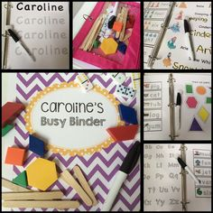 "GENIUS! A mini preschool curriculum - 22 Busy Bag activities all contained in a binder. SO easy to stay organized and bring on the go, quiet time, ""school"" time."