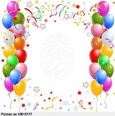 bordes de globos imagui source http memespp com bordes de globos ...