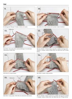 90939. LÄR DIG STICKA RAGGSOCKOR Knitting Stitches, Knitting Socks, Knitting Patterns, Knit Slippers Free Pattern, Knitted Slippers, Brazilian Embroidery, Textiles, Drops Design, Diy Crafts To Sell