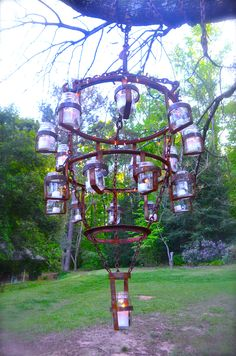 2a0d78c188 My mason jar chandelier I welded from old farm scrap iron Mason Jar  Chandelier