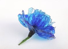 ディップアート「青薔薇コサージュ」 |おじさんは、ようせつ細工師