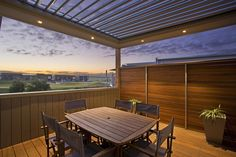 We are proud of every job we do. See some of our great work, including opening and closing roofs, alfresco areas, louvre screens and bi-fold doors. Melbourne, Gable Roof Design, Alfresco Area, Louvre, Roof Installation, Outdoor Tables, Outdoor Decor, Roofing Systems, Pergola Shade
