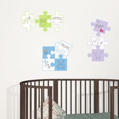Puzzle A-B-C! Walldecal to decorate children room.
