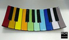 Glass piano keys