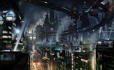 cyber punk   Cyberpunk city