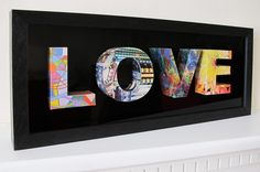 3D letters from repurposed magazine pages