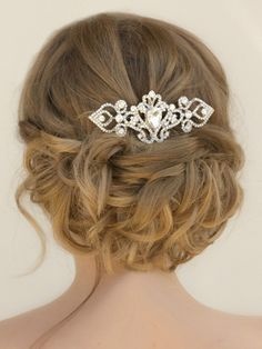 Classic Vintage Rhinestone Bridal Hair Comb ~ Kat by Hair Comes the Bride