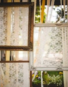 Framed Lace. This would look lovely on your bedroom wall