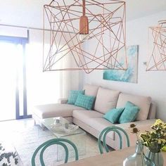 Living Room Plan, Living Room Modern, Home And Living, Beautiful Living Rooms, Small House Interior Design, Home Room Design, Living Room Designs, Beach Apartment Decor, Colorful Apartment
