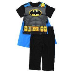 Batman Toddler Boys Pajamas Set with Cape. Free shipping!
