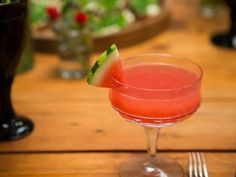 Get Tiffani Thiessen's Watermelon-Champagne Cocktail Recipe from Cooking Channel