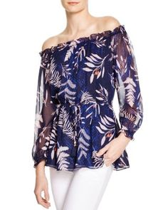 LOVE the pattern on this top; not so crazy about the off the shoulder design, but otherwise, this blouse has a great feel to it.  of course, would love to find something similar at a much more affordable price ;)