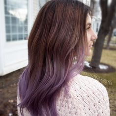 60 Best Ombre Hair Color Ideas for Blond, Brown, Red and Black Hair Brown To Ash Purple Ombre Ash Purple Hair, Brown Ombre Hair, Ombre Hair Color, Red Purple, Brown Hair With Purple Highlights, Purple Hair Tips, Purple Dip Dye, Ombre Style, Black To Purple Ombre