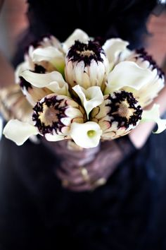 163 best black white flower arrangements bouquets images on what do you think of black and white bridal bouquets blackwhite bouquets mightylinksfo