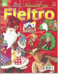 Revista de navidad en fieltro gratis Nylons, Christmas Diy, Xmas, Cross Stitch Books, Painted Books, Book Crafts, Craft Books, Softies, Painting Techniques