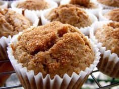 Cinnamon muffins. Used only cinnamon for spice. Used applesauce instead of butter for batter. Delicious!! 134 cal. each