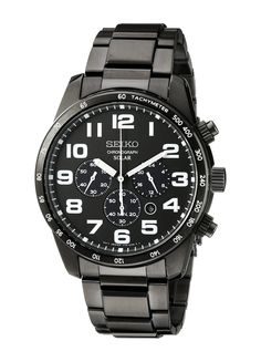 Seiko Men's SSC231 Sport Solar Analog Display Japanese Quartz Black Watch | Amazon.com