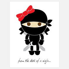 Desk Of A Ninja Girl Card Set now featured on Fab.
