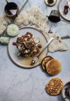 Gluten Free Pancakes with Ricotta & Maple Chai Rhubarb + Online Food Styling & Photography Workshop