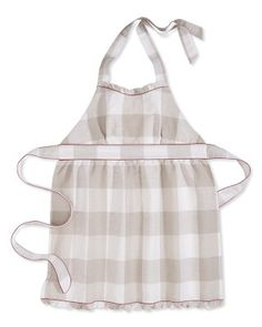 The Abigail Buffalo Plaid Aprons, by Williams-Sonoma.  I totally just ordered this, cutest apron ever, and it's on sale right now.