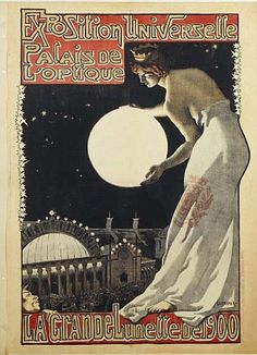 A poster from the 1900 Universal Exhibition in Paris