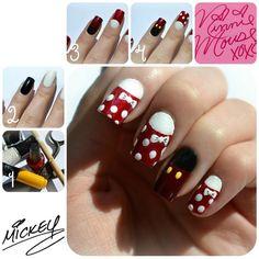 Minnie and Mickey Mouse by TheNailGuru - Nail Art Gallery nailartgallery.nailsmag.com by Nails Magazine www.nailsmag.com #nailart