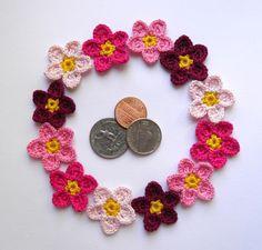 juego de 12 decorativo Flores del ganchillo por ElenaGift en Etsy