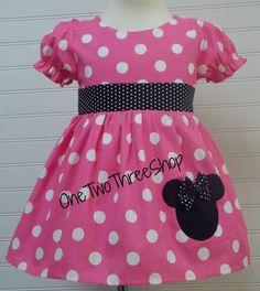 Minnie Mouse Dress Custom Boutique Clothing Med Bubble Gum