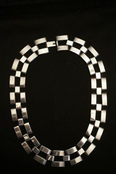 "Sterling Silver Heavy Link Necklace 20"" Long 162.2 Grams"