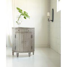 Hooker Furniture 638-85015 Melange Fluted Demi Chest in Silver