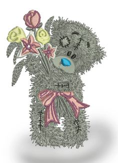 teddy bear embroidery, three sizes - Machine Embroidery Design  size  100 mm x 75 mm / 4 inc x 3 inc / 15000 stc.  multi-format : DST, EXP, ART, PES, HUS, JEF, SEW, if any questions please contact me - contact us  Due to the electronic nature of the design NO REFUNDS will be given.  These designs are not to be altered, edited or converted in any way. There is no guarantee the quality of the designs once they are edited, re-sized or altered.