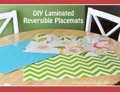 Been looking for DIY placemats for kids...this'll do for me!! : ) Why didn't I do this a LOOONG time ago?